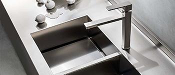 Top cucina in acciaio