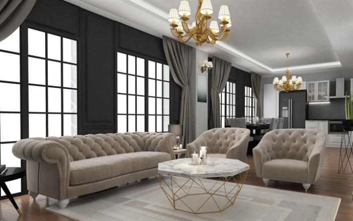 soggiorno classico col grigio