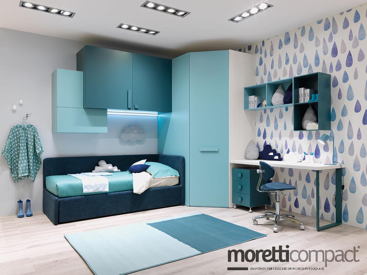 Letti A Castello Moretti Compact.Rivenditore Camerette Moretti Compact