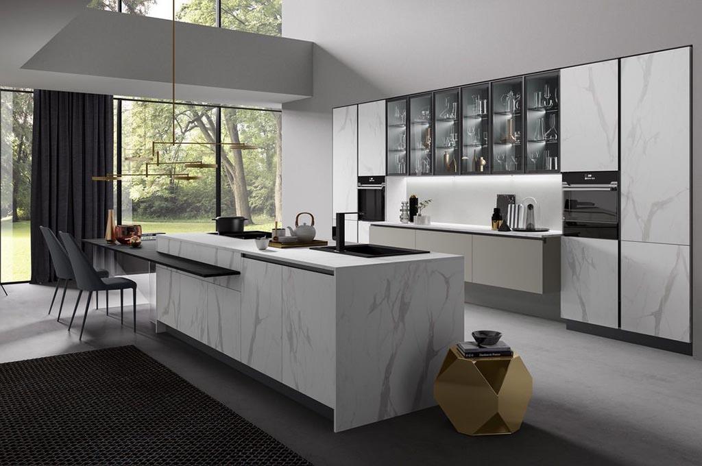 Cucina con isola Zen di Mobilturi