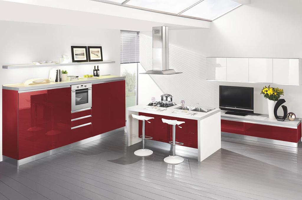 Top cucine moderne colorate qd02 pineglen - Cucine moderne colorate ...