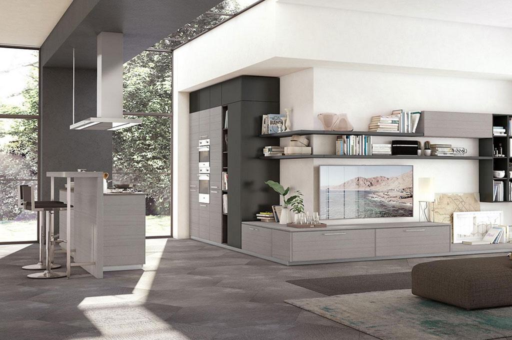 Adele cucine moderne mobili sparaco - Cucine sospese da terra ...