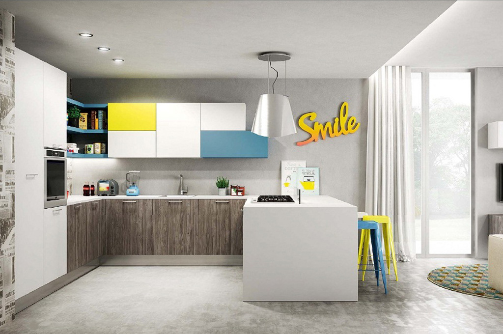 Sunny cucine moderne mobili sparaco - Cucine moderne gialle ...