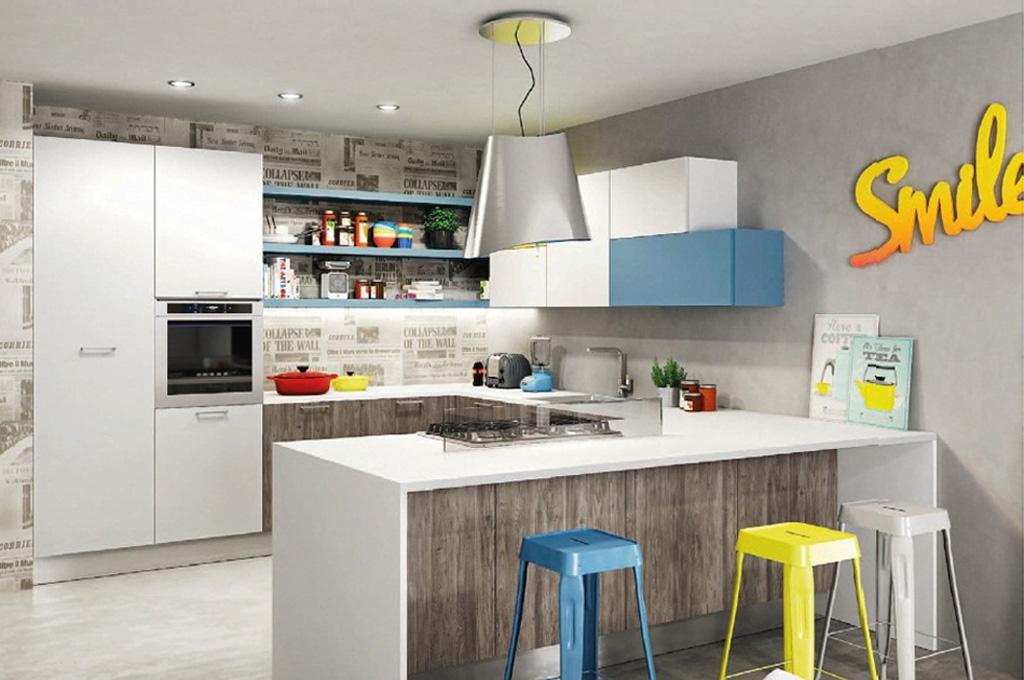 Sunny cucine moderne mobili sparaco - Cucine angolari piccole dimensioni ...