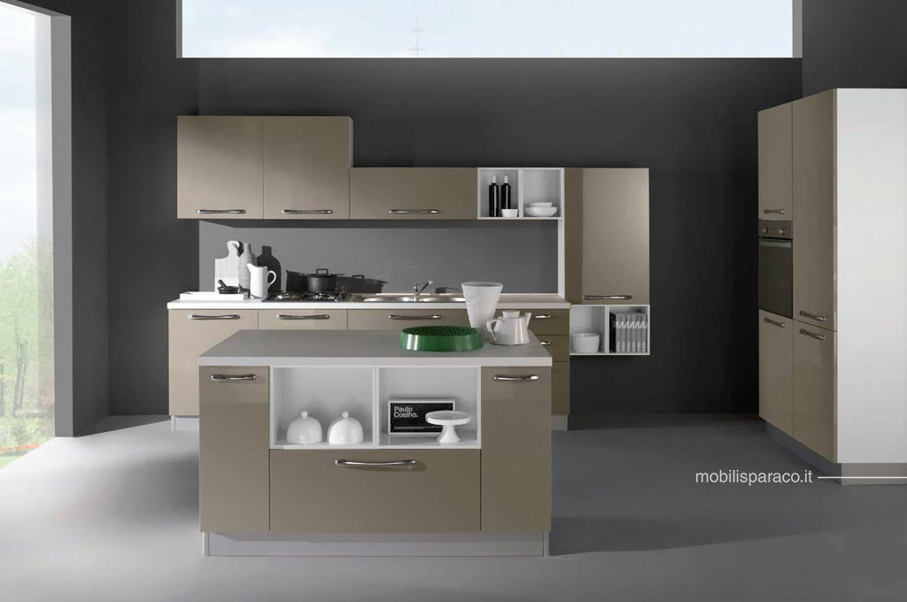 Kira con isola cucine moderne mobili sparaco for Cucine con isola moderne