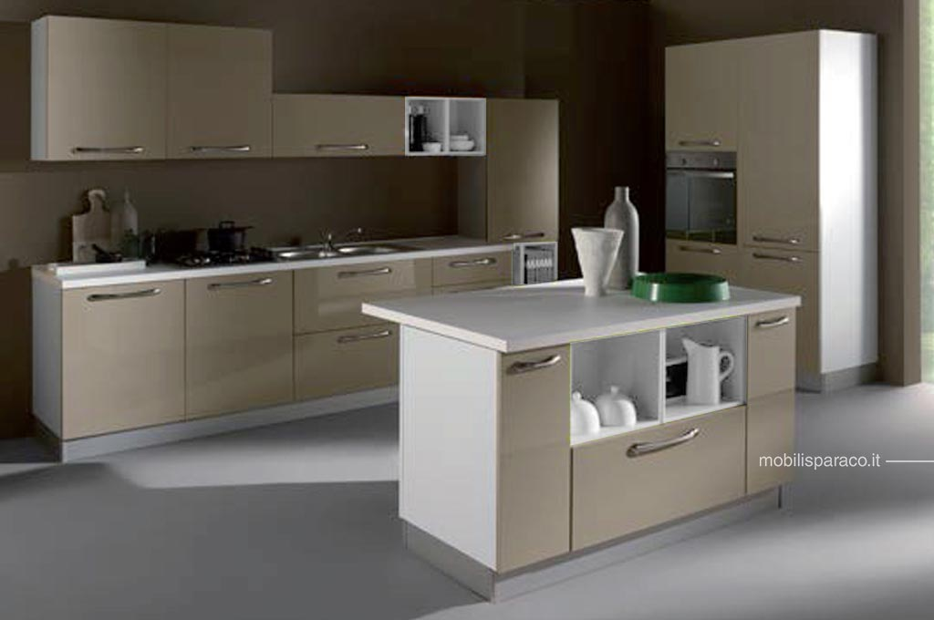 Gallery of cucine moderne kira con isola with cucine for Cucine moderne isola centrale