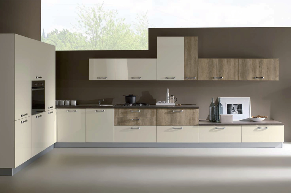 Kira angolare 540 cucine moderne mobili sparaco for Cucina angolare