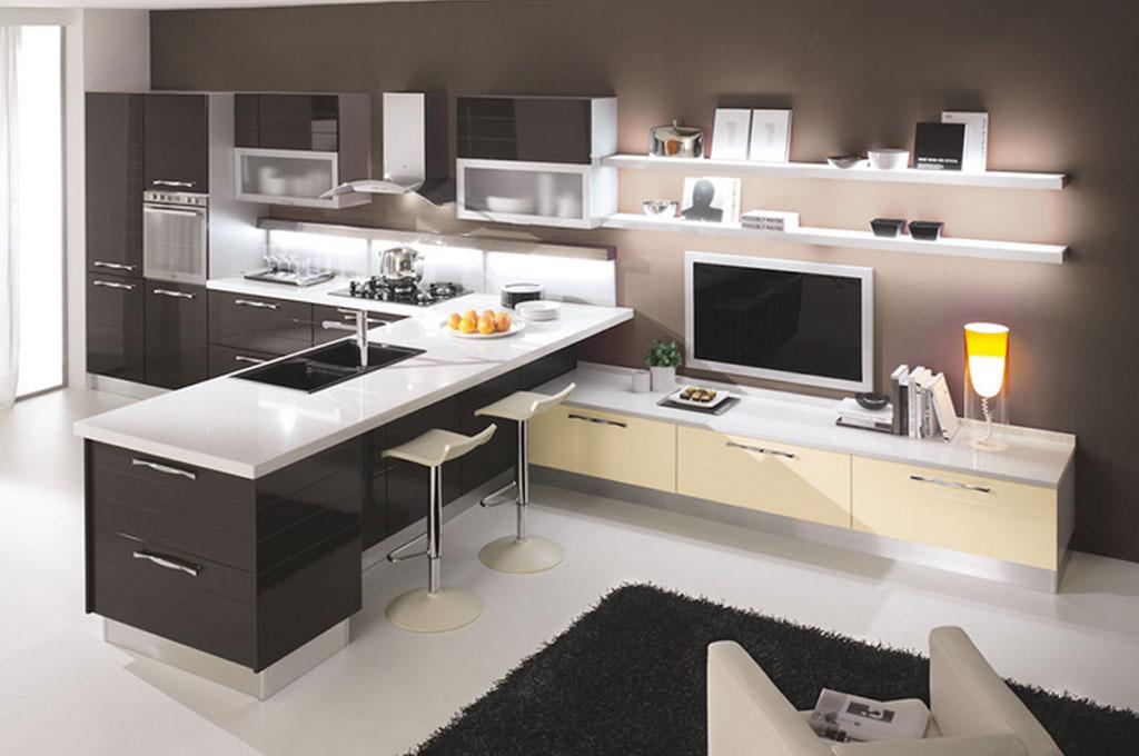 Egle cucine moderne mobili sparaco - Cucine classiche con penisola ...