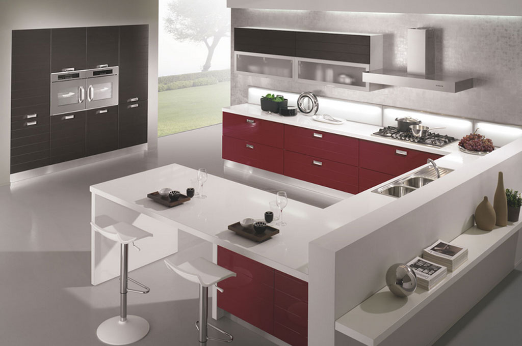 Egle cucine moderne mobili sparaco - Cucine moderne penisola ...