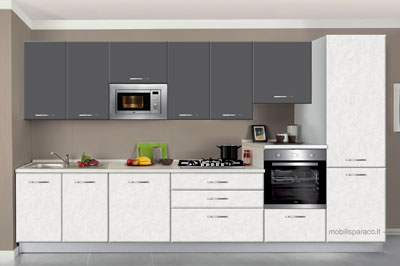 Cucine moderne Diamante 360 L Five