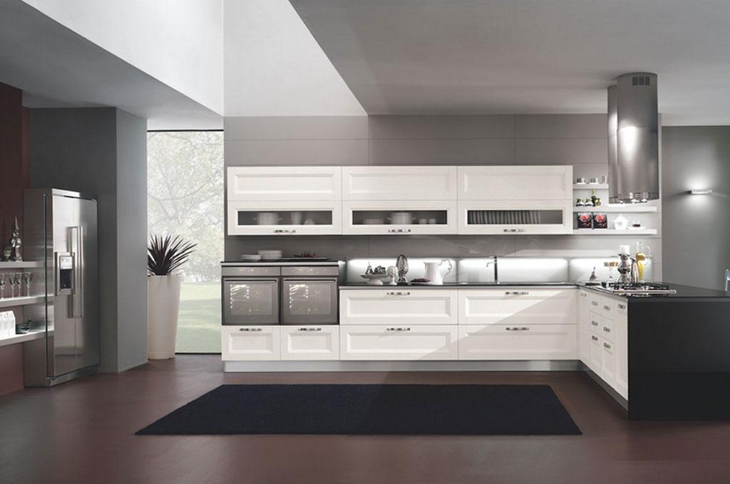 Nina cucine moderne mobili sparaco for Cucine moderne con penisola
