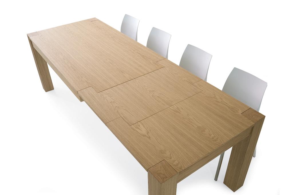 Tavolo rovere naturale tavoli e sedie mobili sparaco - Tavoli in legno massello moderni ...
