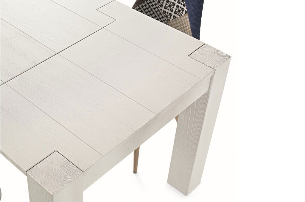 Tavolo abete bianco tavoli e sedie mobili sparaco - Mobili in abete massiccio ...