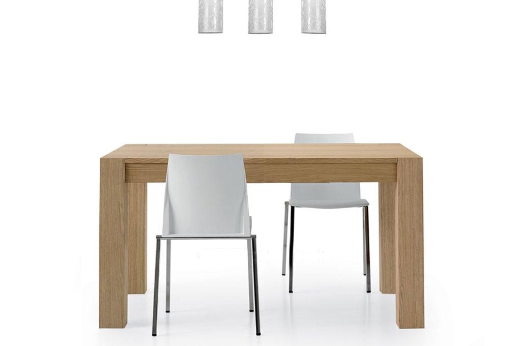 Tavolo rovere naturale tavoli e sedie mobili sparaco - Tavolo legno naturale ...