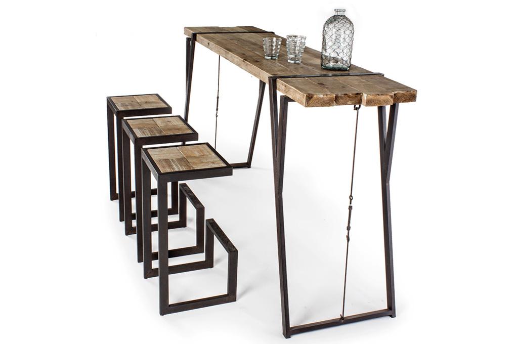 Blocks tavoli e sedie mobili sparaco for Sedie ferro legno