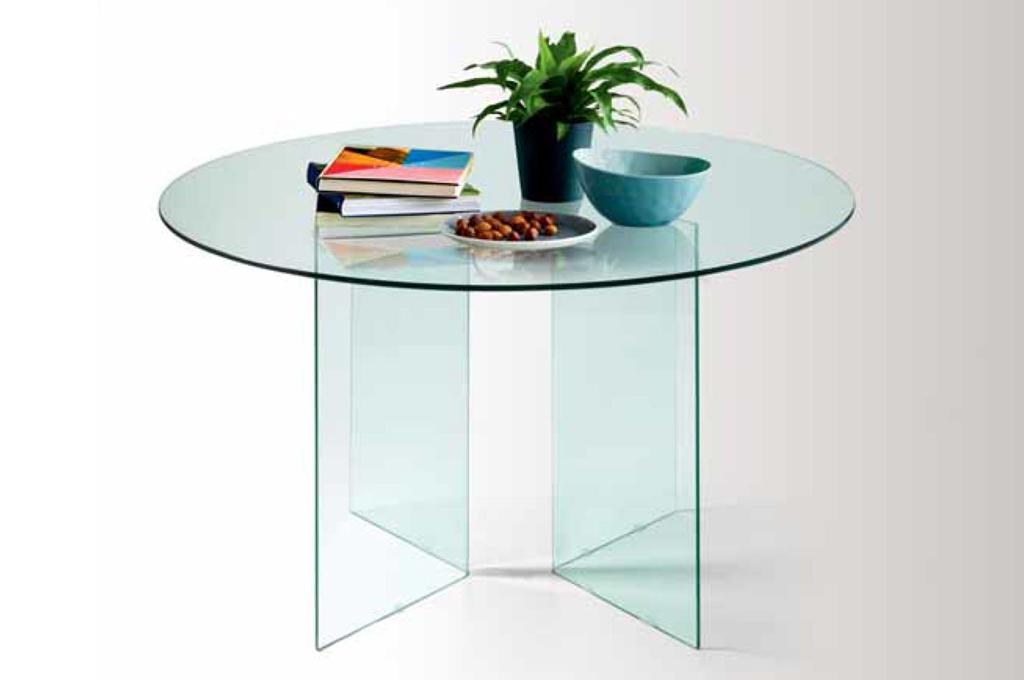 Tavoli Di Vetro Rotondi : Tavolo rotondo moderno in vetro terredelgentile