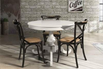 Mobili in legno massello cucine soggiorni e camere da letto - Tavolo rotondo allungabile bianco ...