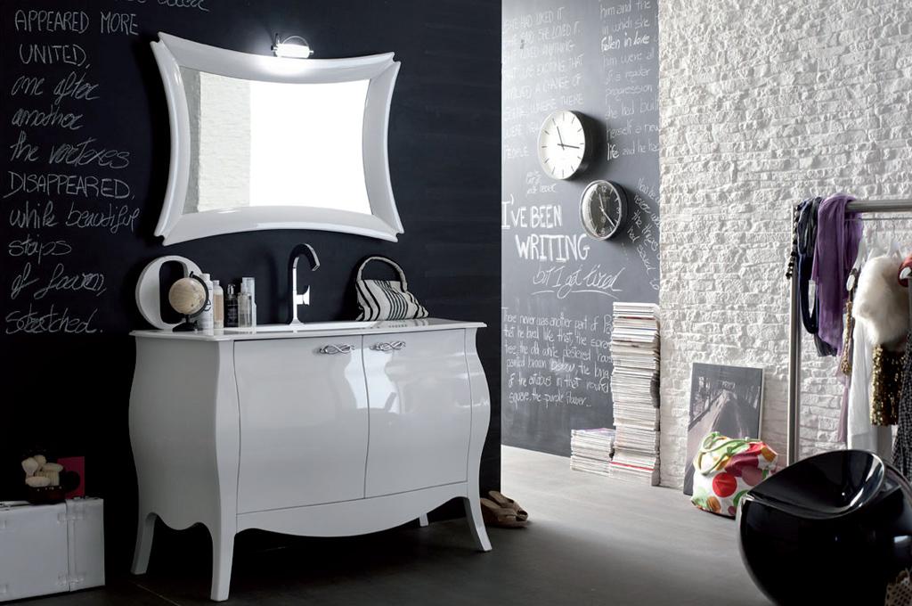 Mobili Arredo Bagno Bianco : Emmeuno arredo bagno produttore mobili per bagno classico