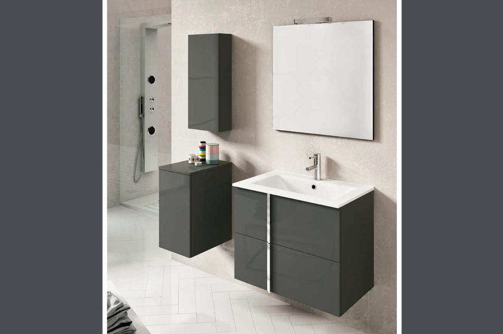 Onix 80 arredo bagno moderno mobili sparaco for Arredo bagno svendita