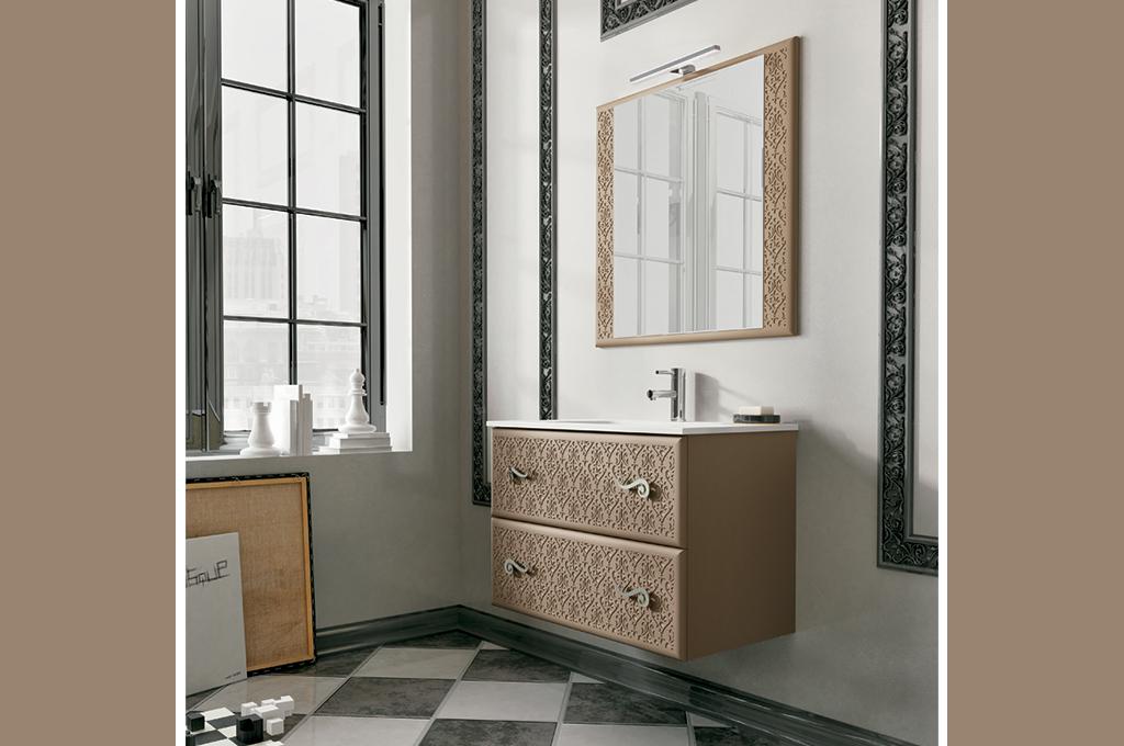 opera 100 | arredo bagno | mobili sparaco - Arredo Bagno Marrone