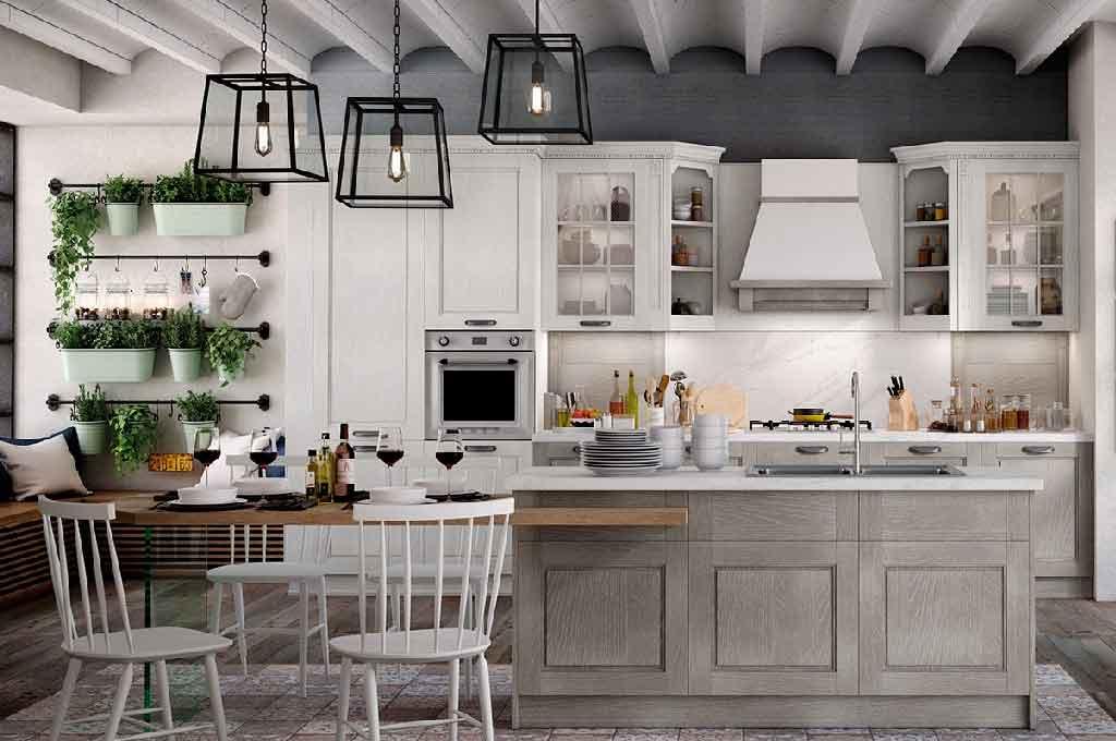Virginia cucine classiche mobili sparaco for Cucina contemporanea prezzi