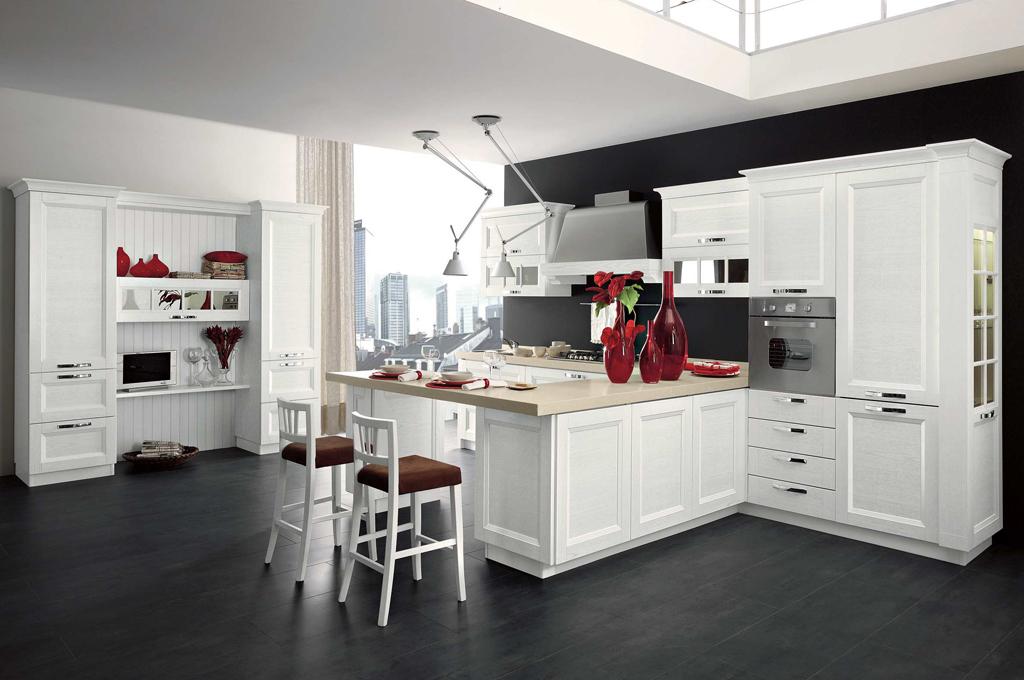 Beverly cucine classiche mobili sparaco - Cucine classiche con penisola ...