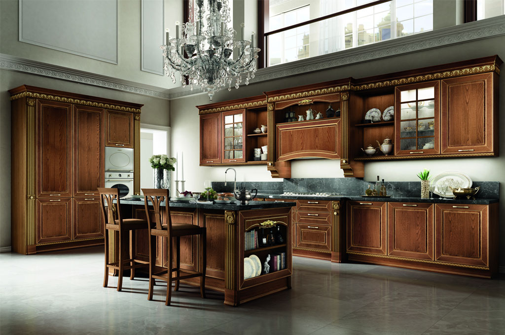 Dolcevita cucine classiche mobili sparaco - Cucine in legno classiche ...