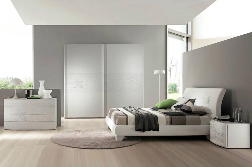 Vanilla camere da letto moderne mobili sparaco - Camera da letto bianca moderna ...