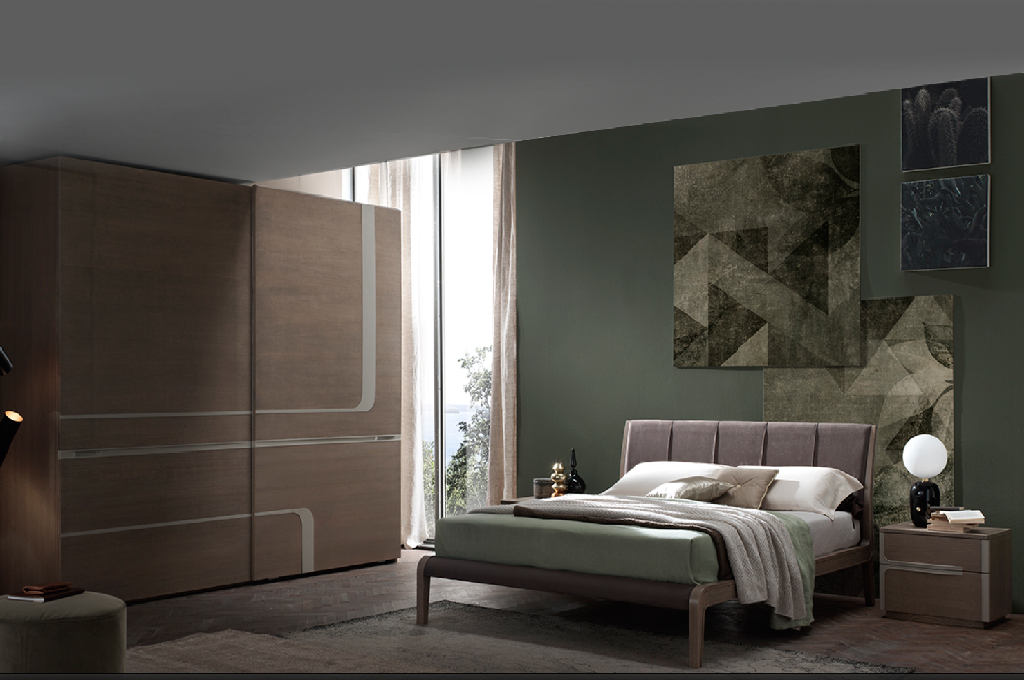 Cleo camere da letto moderne mobili sparaco for Mensole moderne camera da letto