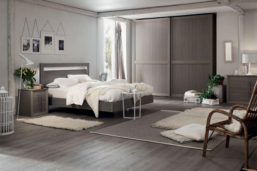 Iris camere da letto moderne mobili sparaco - Camera da letto grigio ...