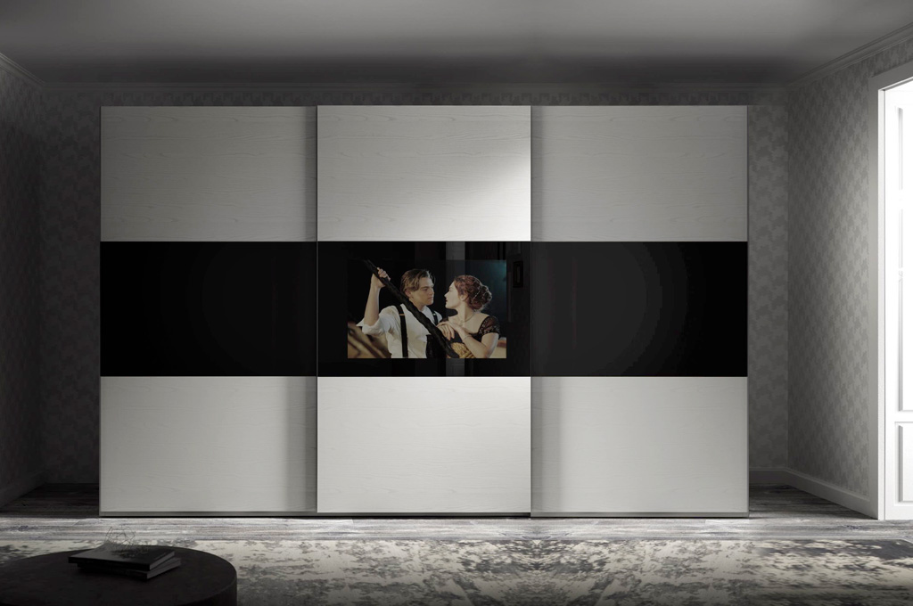 Beautiful armadio con tv incorporata ideas for Sparaco arredamenti