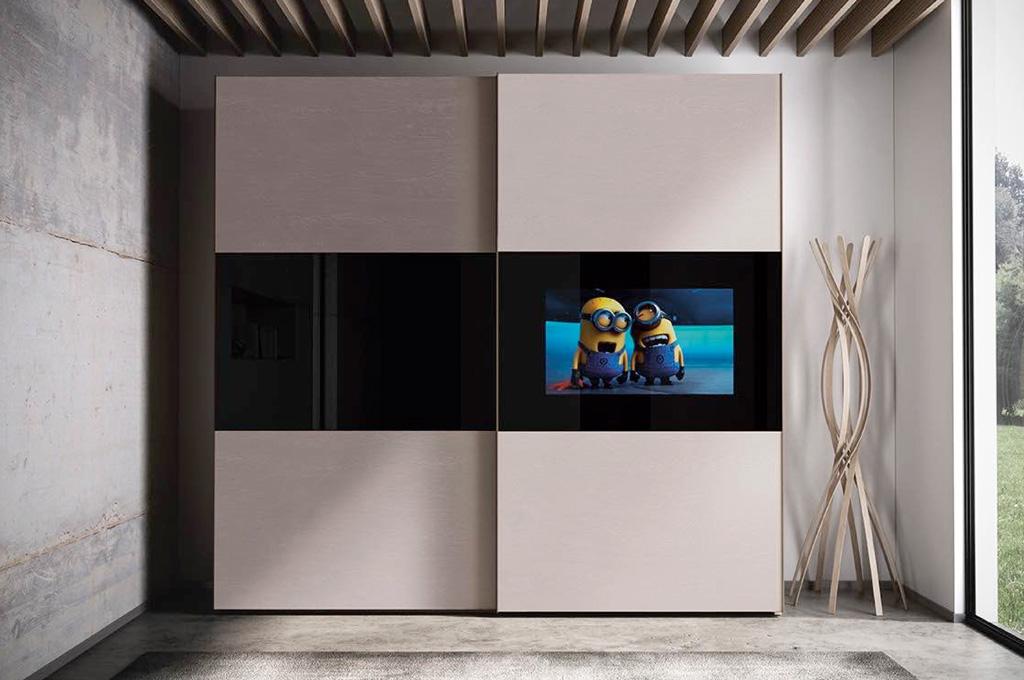 Mirror tv camere da letto moderne mobili sparaco for Mobili per camera