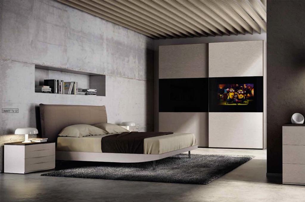 Mirror tv camere da letto moderne mobili sparaco for Capanna con 3 camere da letto