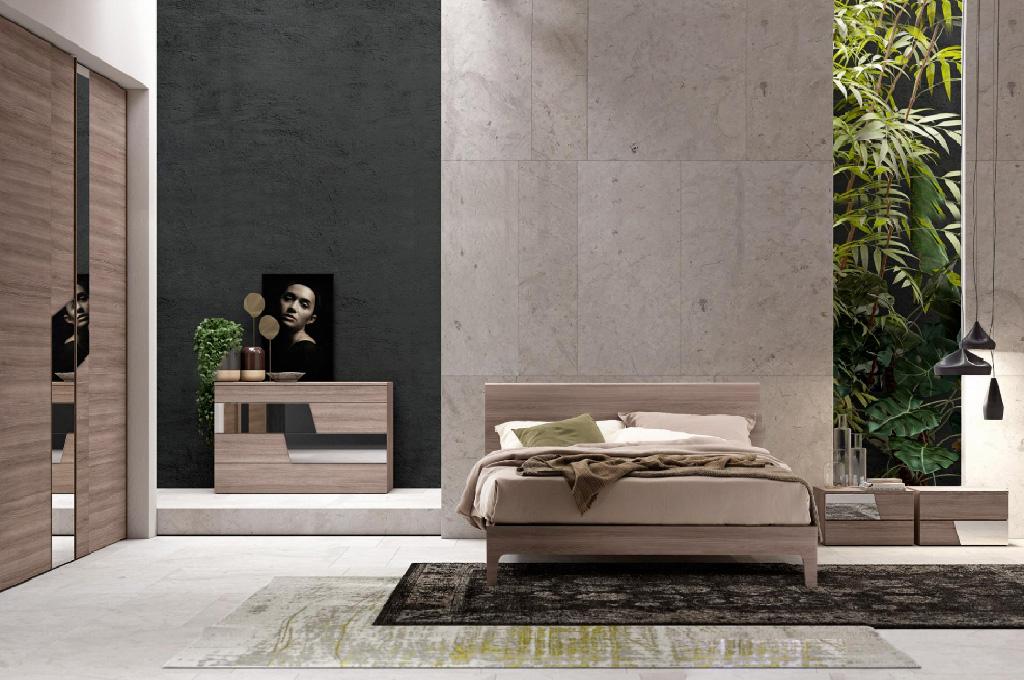Techno camere da letto moderne mobili sparaco - Camera da letto minimal ...