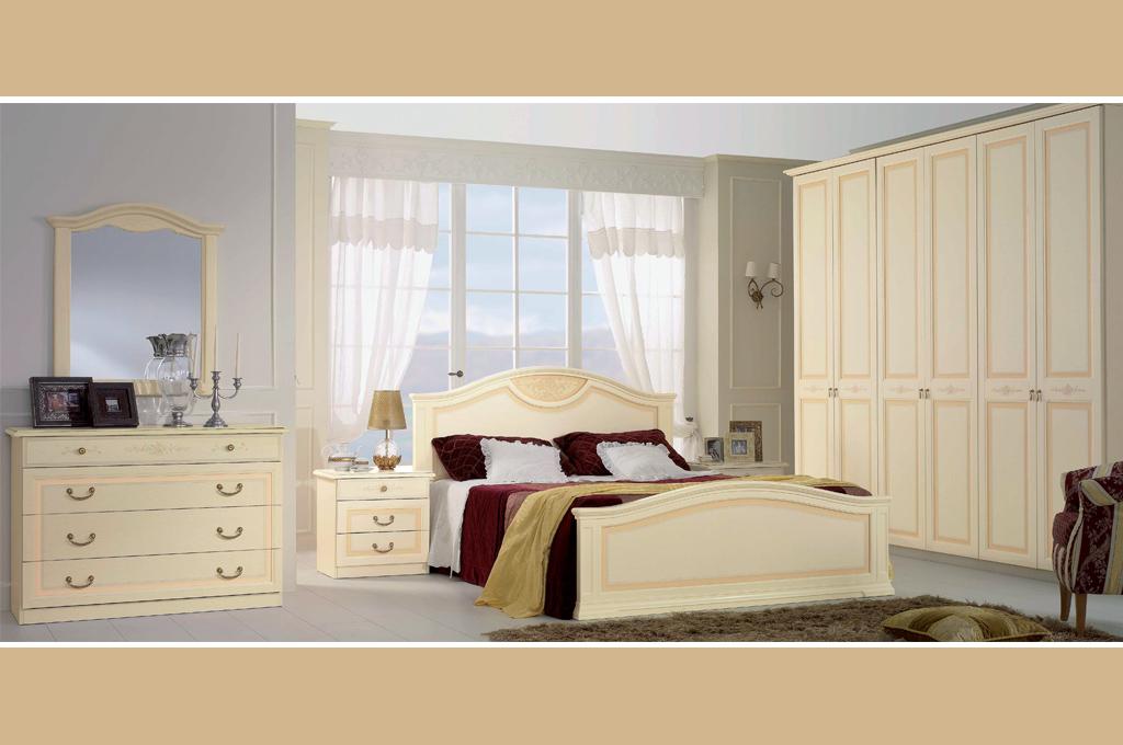 Angelica camere da letto classiche mobili sparaco - Camera matrimoniale moderna ...