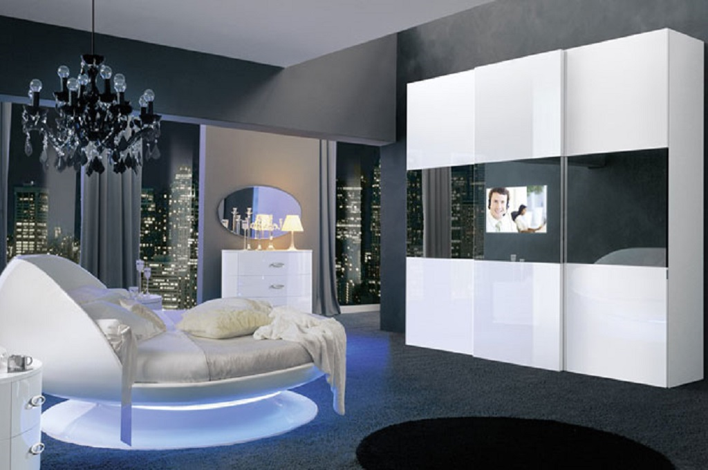 anta led camere da letto moderne mobili sparaco. Black Bedroom Furniture Sets. Home Design Ideas