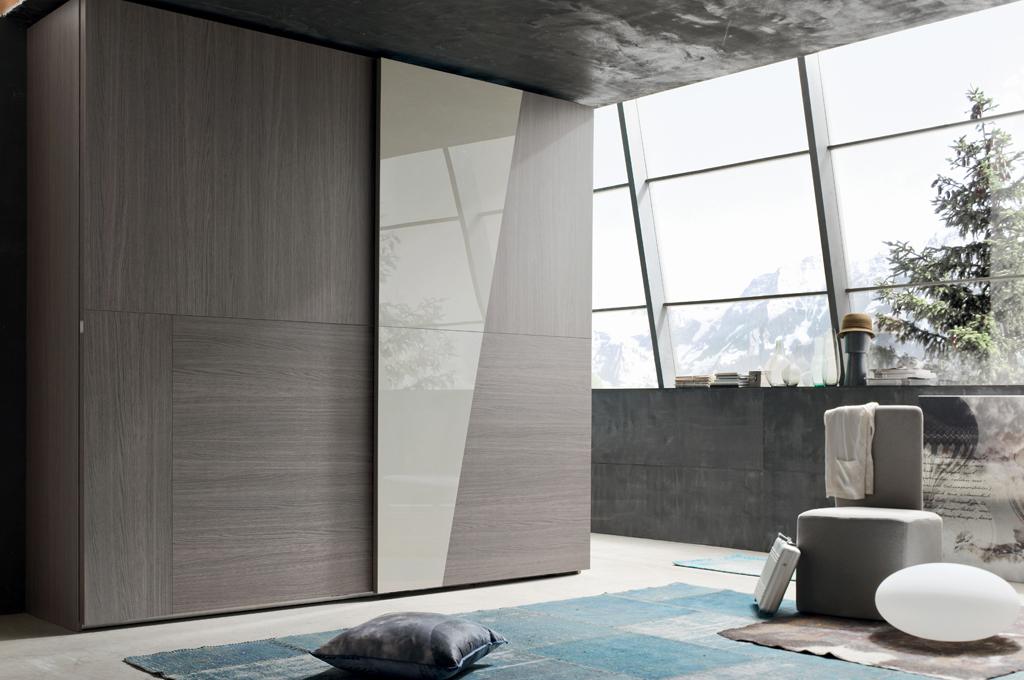 Camera Da Letto Moderna Grigia.Diagonal