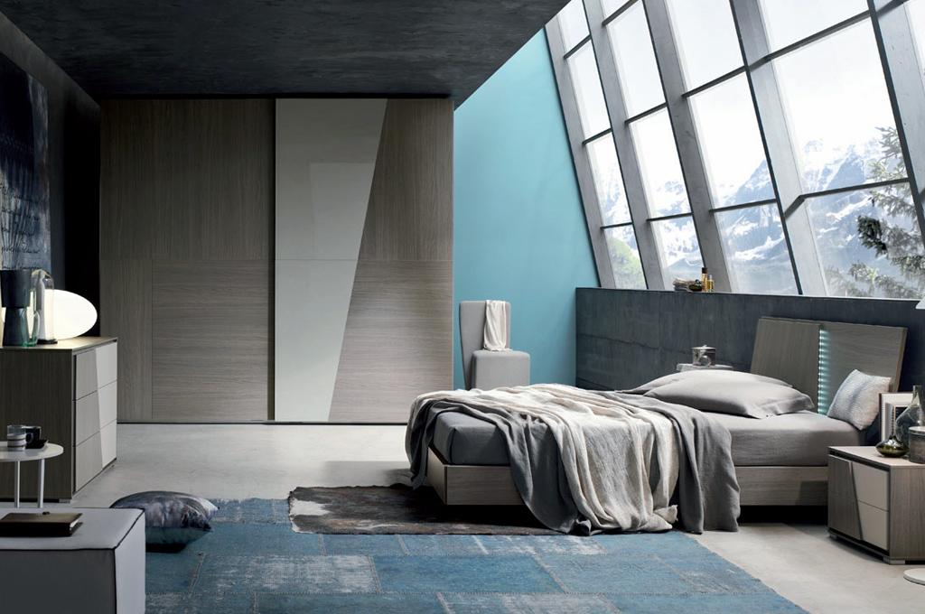 Diagonal camere da letto moderne mobili sparaco for Aziende camere da letto