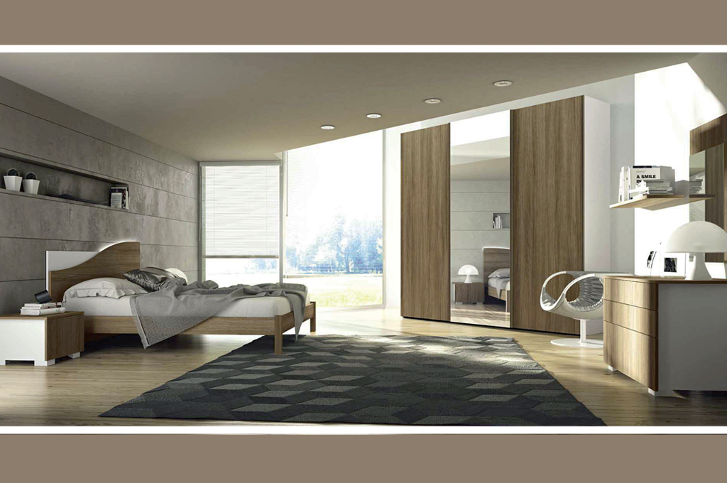 Eresem camere da letto moderne mobili sparaco for Mensole moderne camera da letto