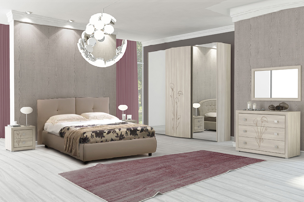 Giada camere da letto moderne mobili sparaco for Offerte camere da letto matrimoniali