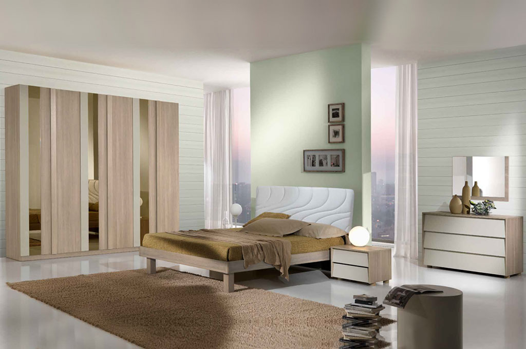 Kira camere da letto moderne mobili sparaco - Camere da letto moderne milano ...