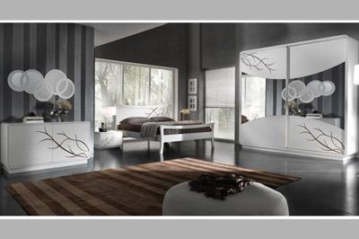 Mobili del mobilificio sparaco - Camera da letto moderna bianca laccata ...