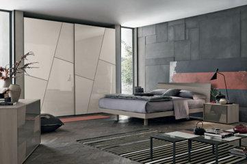 Kross Camera da letto moderna dai tagli obliqui