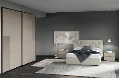 Trend Giochi cromatici e linee rigorose in camera da letto € 2490