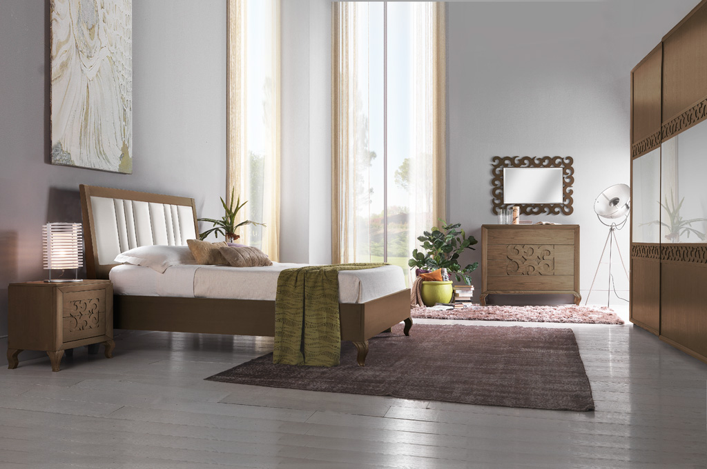 Gioia camere da letto classiche mobili sparaco - Camere da letto complete ...