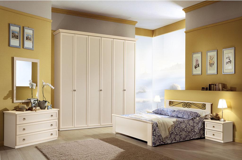 Ninfea patinata camere da letto classiche mobili sparaco - Foto camere da letto classiche ...