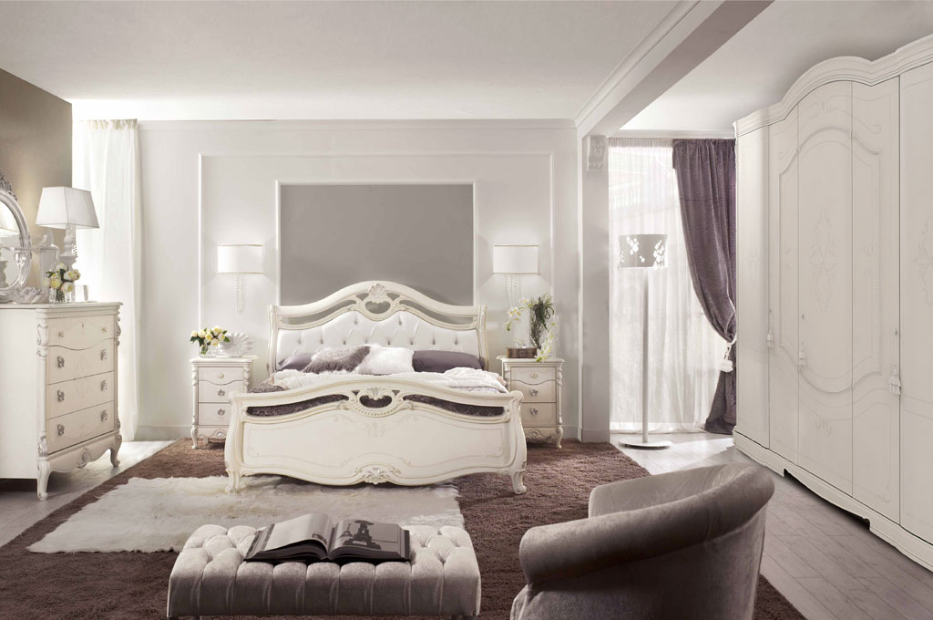 Diamante camere da letto classiche mobili sparaco for 4 piani di camera da letto