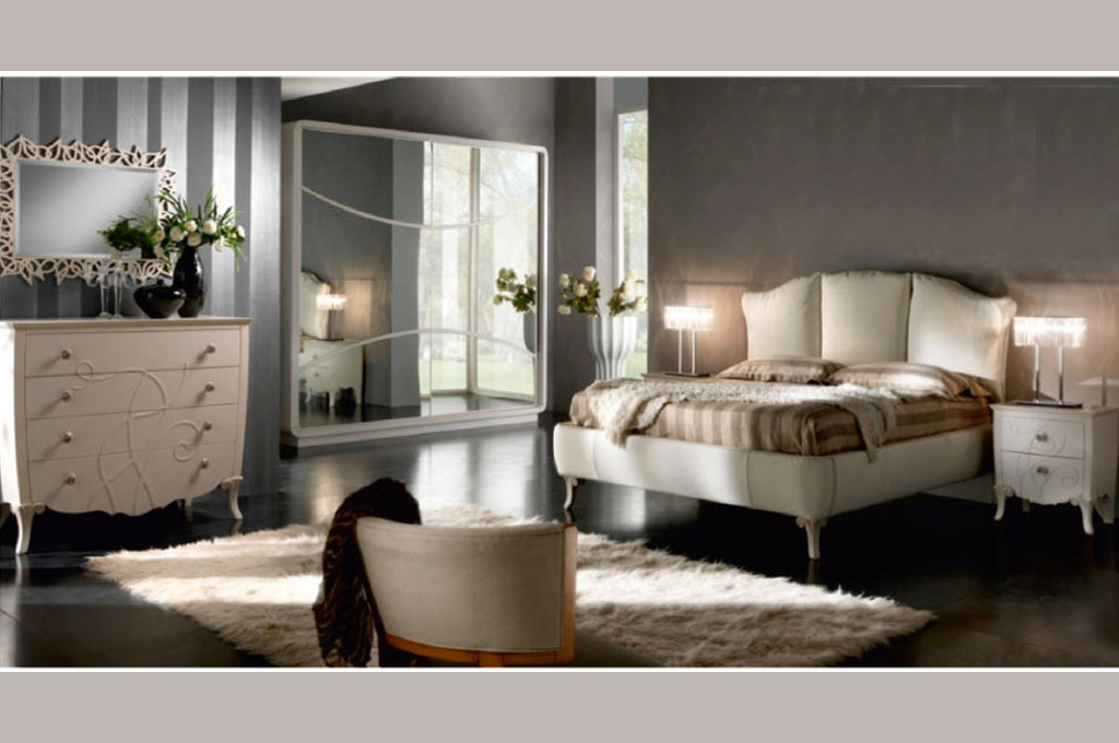 Retr camere da letto classiche mobili sparaco - Camera da letto in ciliegio ...