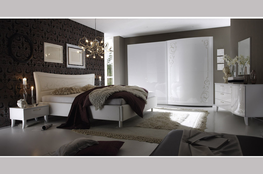 Sibilla camere da letto moderne mobili sparaco - Camere da letto complete offerte ...