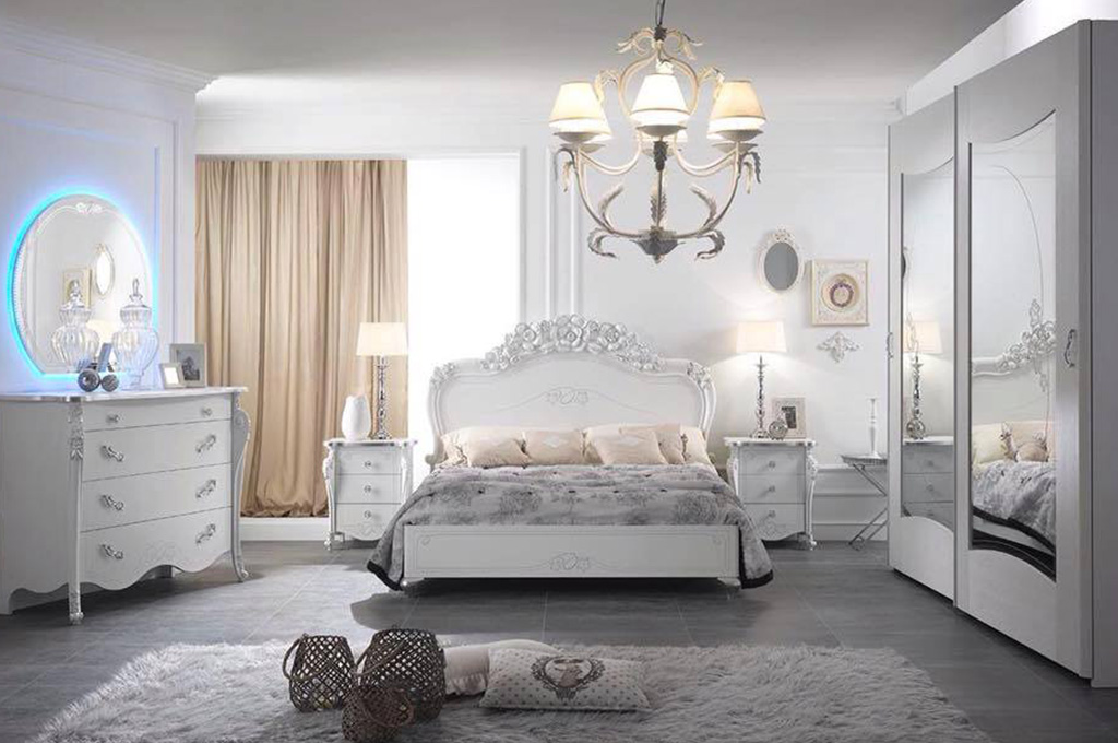 Viola camere da letto classiche mobili sparaco - Camere da letto classiche prezzi ...